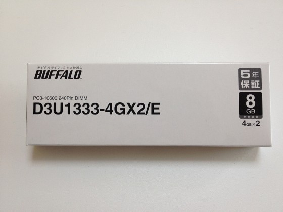 BUFFALO D3U1333-4GX2/E パッケージ